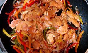 Receta Arroz chino con pollo