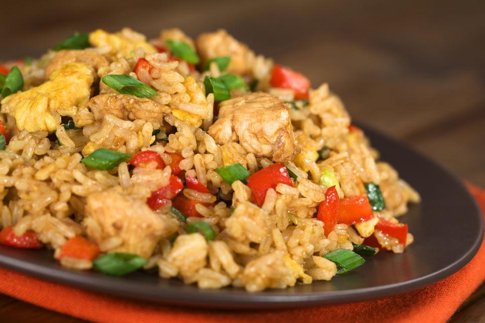 Receta Arroz Chino Con Pollo Facil Y Muy Oriental