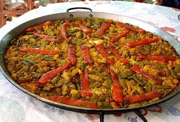 Paella sin cebolla